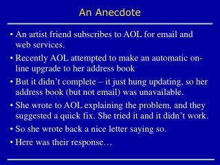 An Anecdote