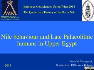 Nile behaviour and Late Palaeolithic humans in Upper Egypt