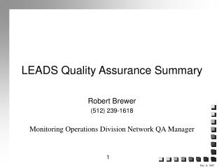LEADS Quality Assurance Summary