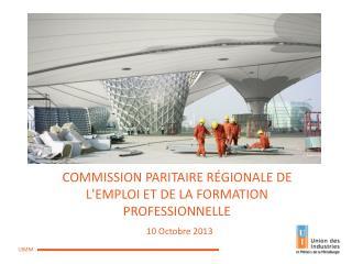 COMMISSION PARITAIRE RÉGIONALE DE L'EMPLOI ET DE LA FORMATION PROFESSIONNELLE