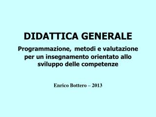 Enrico Bottero – 2013