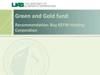 Recommendation: Buy KEYW Holding Corporation