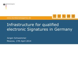Infrastructure for qualified electronic Signatures in Germany