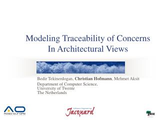Modeling Traceability of Concerns In Architectural Views
