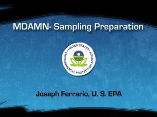 MDAMN - Sampling Preparation
