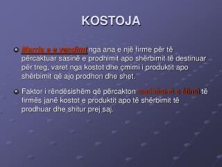 KOSTOJA