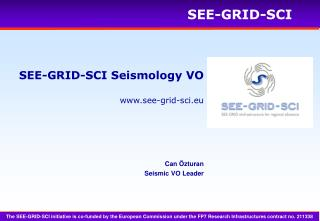 SEE-GRID-SCI  Seismo logy  VO