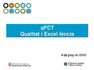 qFCT Qualitat i Excel·lència