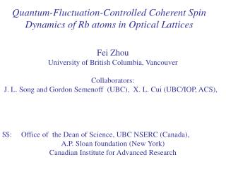 Quantum-Fluctuation-Controlled Coherent Spin Dynamics of Rb atoms in Optical Lattices