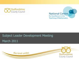 Subject Leader Development Meeting March 2011