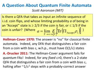 A Question About Quantum Finite Automata
