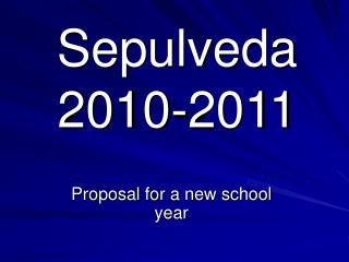 Sepulveda 2010-2011