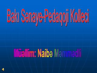 Bakı Sənaye-Pedaqoji Kolleci