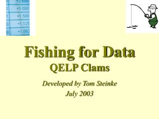 Fishing for Data QELP Clams