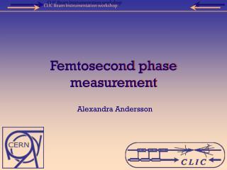 Femtosecond phase measurement