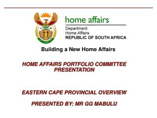 Building a New Home Affairs