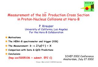 Measurement of the  bb   Production Cross Section  in Proton-Nucleus Collisions at Hera-B
