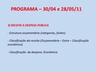 3) RECEITA X DESPESA PÚBLICA  Estrutura orçamentária (categorias, fontes)
