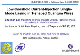 Low-threshold Current-Injection Single-Mode Lasing in T-shaped Quantum Wire s
