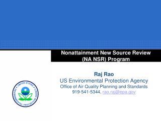 Nonattainment New Source Review (NA NSR) Program