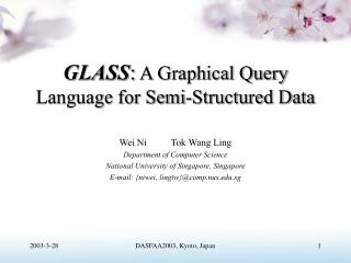 GLASS :  A Graphical Query Language for Semi-Structured Data