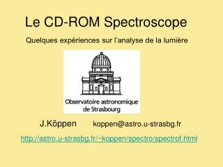 Le CD-ROM Spectroscope