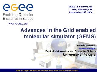 Advances in the Grid enabled molecular simulator (GEMS)
