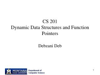 CS 201 Dynamic Data Structures and Function Pointers