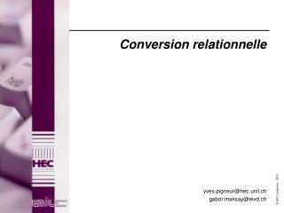 Conversion relationnelle