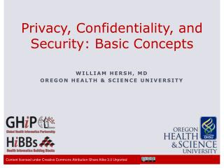Privacy, Confidentiality, and Security: Basic Concepts