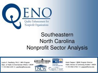 Southeastern  North Carolina Nonprofit Sector Analysis