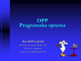 OPP Programska oprema