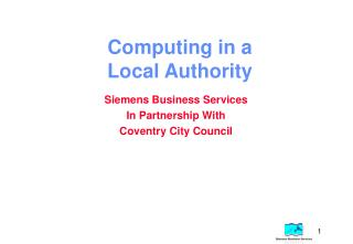 Computing in a Local Authority