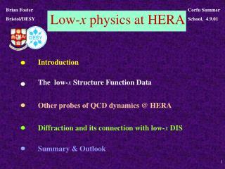 Low- x  physics at HERA