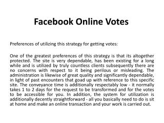 Facebook Online Votes