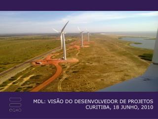 MDL: VISÃO DO DESENVOLVEDOR DE PROJETOS CURITIBA, 18 JUNHO, 2010