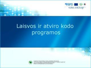 Atvirojo kodo programų integravimas į vartotojų tinklalapius