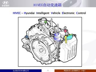 HIVEC  -  H yundai   I ntelligent   V ehicle   E lectronic   C ontrol