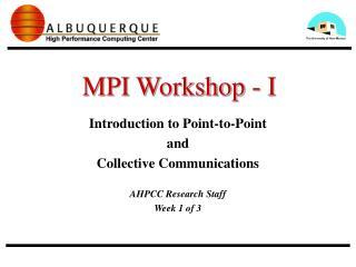 MPI Workshop - I