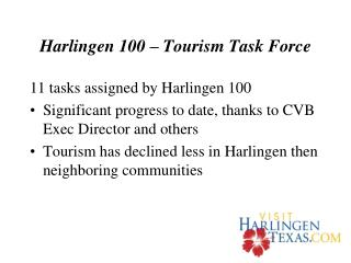 Harlingen 100   Tourism Task Force