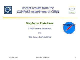 Recent results from the COMPASS experiment at CERN