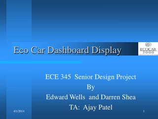 Eco Car Dashboard Display