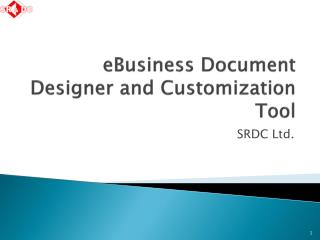 eBusiness  Document  Designer and Customization Tool