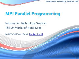 MPI Parallel Programming