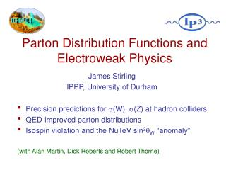 Parton Distribution Functions and Electroweak Physics