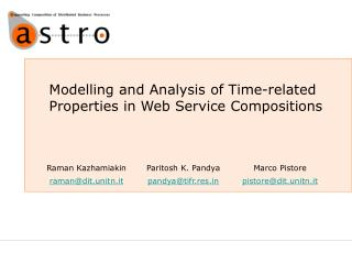 Modelling and Analysis of Time-related Properties in Web Service Compositions