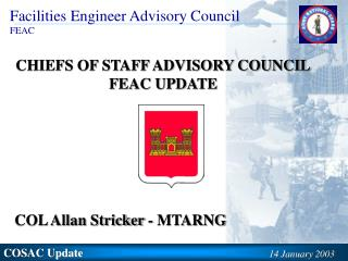 CHIEFS OF STAFF ADVISORY COUNCIL FEAC UPDATE