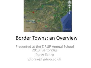 Border Towns: an Overview