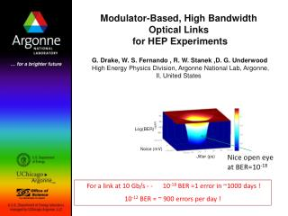 Modulator-Based, High Bandwidth Optical Links  for HEP Experiments