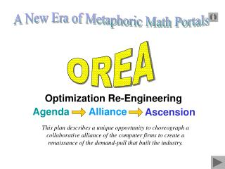 Optimization Re-Engineering  Alliance